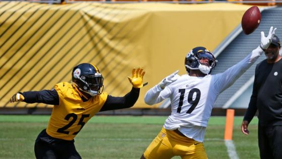 Little or not outside work for JuJu Smith-Schuster, so far